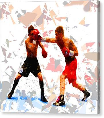 Canvas Print featuring the painting Boxing 113 by Movie Poster Prints