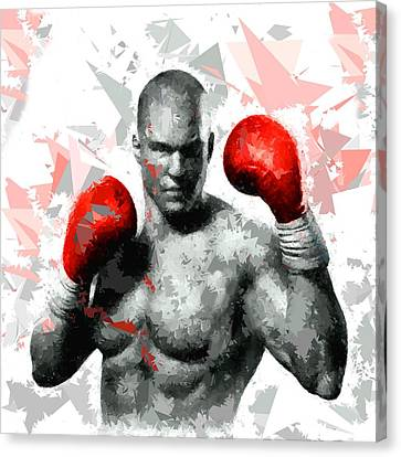 Canvas Print featuring the painting Boxing 114 by Movie Poster Prints