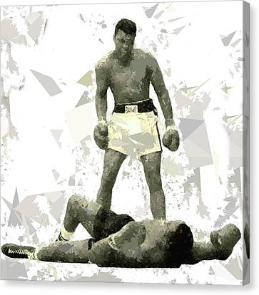 Canvas Print featuring the painting Boxing 115 by Movie Poster Prints