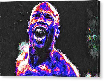 Boxing Floyd Money Mayweather Painted Canvas Print by David Haskett