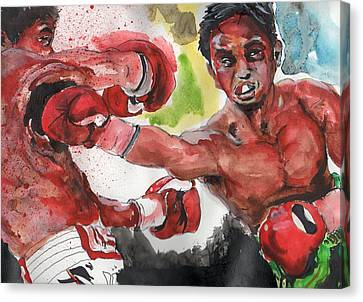 Boxing Fury Canvas Print by Matt Burke