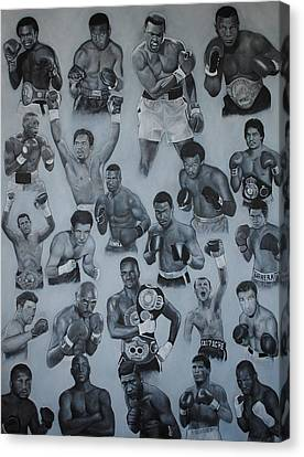 Canvas Print featuring the painting Boxing's Greatest by David Dunne