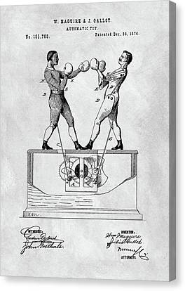 Boxing Toy Patent  Canvas Print by Dan Sproul