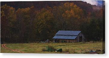 Boxley Valley Farm Canvas Print by Jonas Wingfield