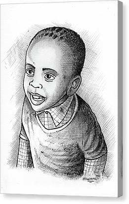 Boy Canvas Print by Anthony Mwangi