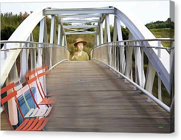 Boy Approaching Bridge Canvas Print by KJ DePace