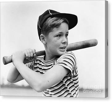 Boy At Bat, C.1930s Canvas Print by H. Armstrong Roberts/ClassicStock