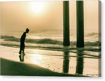 Canvas Print featuring the photograph Boy At Sunrise In Alabama  by John McGraw