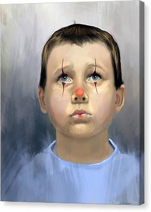 Boy Clown Canvas Print
