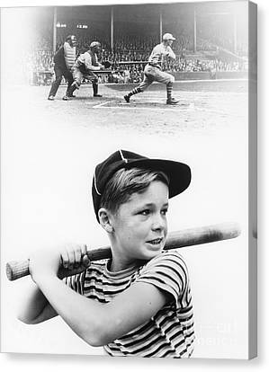 Boy Dreams Of Baseball, C.1930s Canvas Print by H. Armstrong Roberts/ClassicStock
