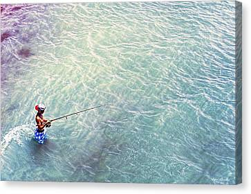 Boy Fishing Canvas Print