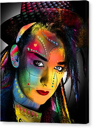 Human Beings Canvas Print - Boy George  by Mark Ashkenazi