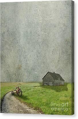 Tricycle Canvas Print - Boy Gone by AJ Yoder