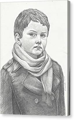 Boy In A Peacoat Canvas Print