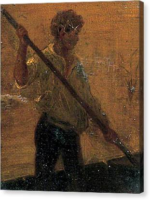 Canvas Print featuring the painting Boy In A Punt by Henry Scott Tuke