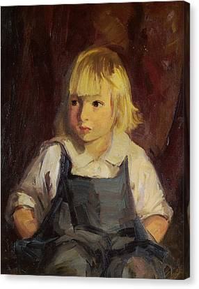 Boy In Blue Overalls Canvas Print by Robert Henri