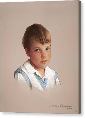 Boy In Blue Canvas Print