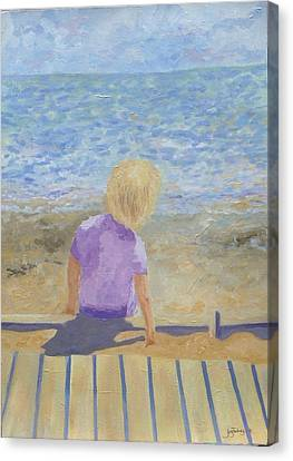 Boy Lost In Thought Canvas Print