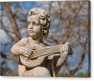Boy Lute Statue Canvas Print by Billy Soden