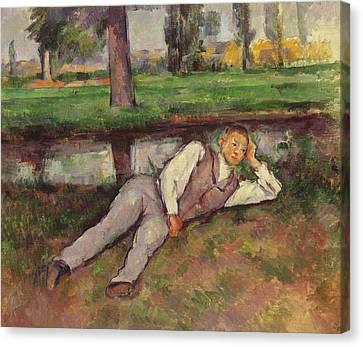 Boy Resting Canvas Print by Paul Cezanne