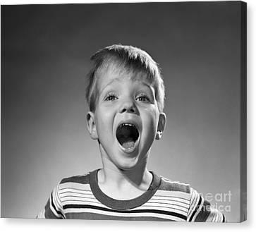 Boy Shouting, C.1950s Canvas Print
