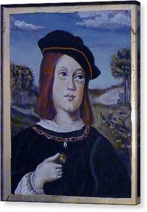 Boy With A Black Hat Canvas Print