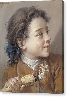 Youthful Canvas Print - Boy With A Carrot, 1738 by Francois Boucher