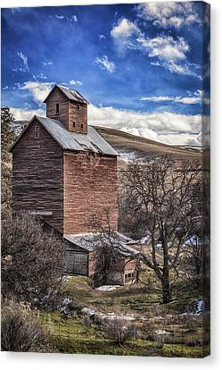 Canvas Print featuring the photograph Boyd Flour Mill by Cat Connor