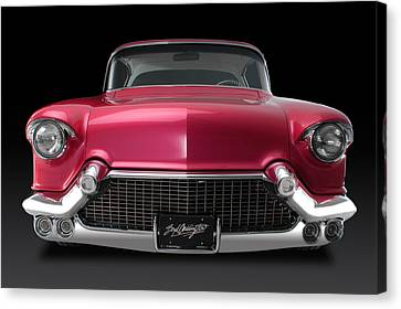 Hot Pink Custom Canvas Print - Boyd's '57 Pink Cadillac by Dennis Fugnetti