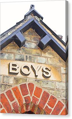 Boys' Entrance Canvas Print by Tom Gowanlock