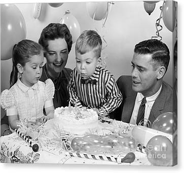 Boys Second Birthday Party, C.1950s Canvas Print by H. Armstrong Roberts/ClassicStock