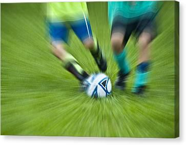 Boys Soccer Canvas Print by John Greim
