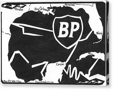 Bp Oil Slick Canvas Print