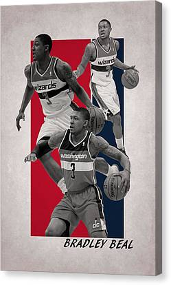 Bradley Beal Washington Wizards Canvas Print by Joe Hamilton