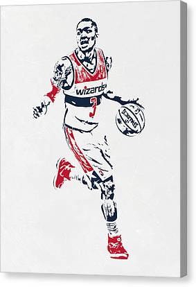 Bradley Beal Washington Wizards Pixel Art Canvas Print by Joe Hamilton