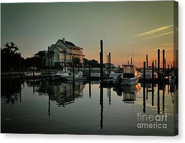 Bradley Creek At Dawn Canvas Print by Phil Mancuso