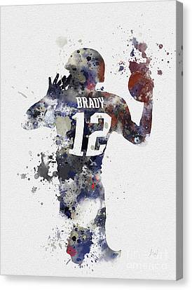 Football Canvas Print - Brady by Rebecca Jenkins