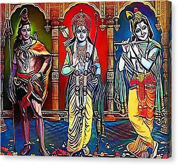 brahma siva Krisna - My WWW vikinek-art.com Canvas Print