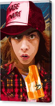 Brain Freeze Canvas Print by Moxxy Simmons