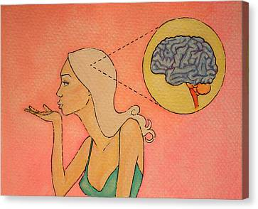 Brains And Beauty Canvas Print by Ramey Guerra