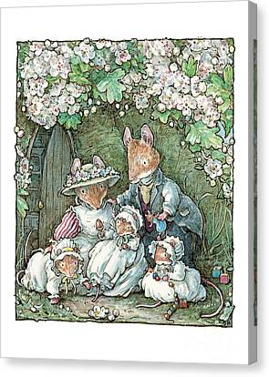 Countryside Canvas Print - Brambly Hedge - Poppy Dusty And Babies by Brambly Hedge