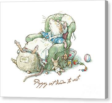 Countryside Canvas Print - Brambly Hedge - Poppy Sat Down To Rest by Brambly Hedge