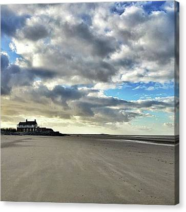 Brancaster Beach This Afternoon 9 Feb Canvas Print by John Edwards