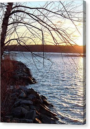 Late-summer Riverbank Canvas Print