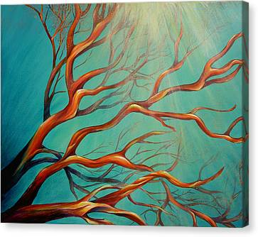 Canvas Print featuring the painting Branching Out by Dina Dargo
