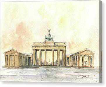 Brandenburger Tor, Berlin Canvas Print by Juan Bosco