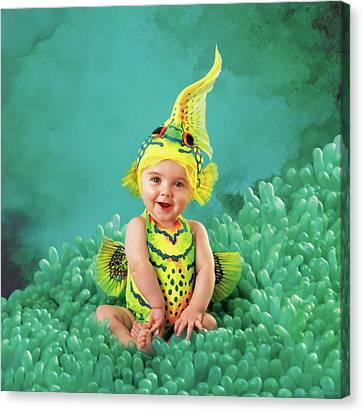 Under The Sea Canvas Print - Brando As A Gobi Fish by Anne Geddes