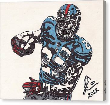 Brandon Jacobs 1 Canvas Print by Jeremiah Colley