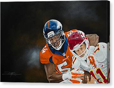 Brandon Marshall Canvas Print by Don Medina