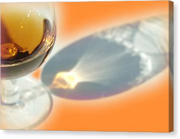 Brandy Glass Reflection Canvas Print